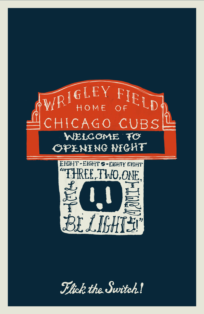 WRIGLEY'S 1st NIGHT GAME